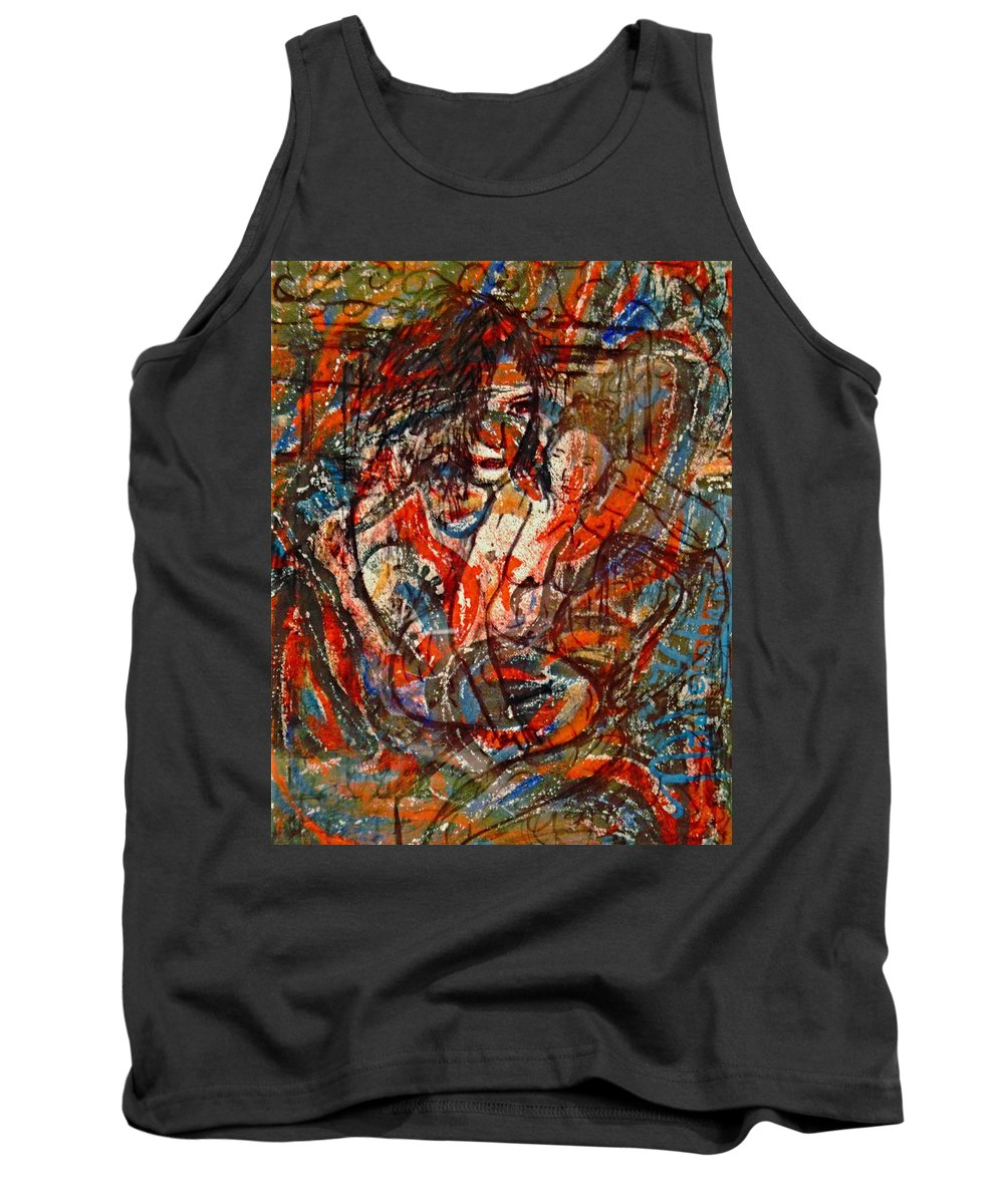 Expressionism Tank Top featuring the painting Nudes by Natalie Holland