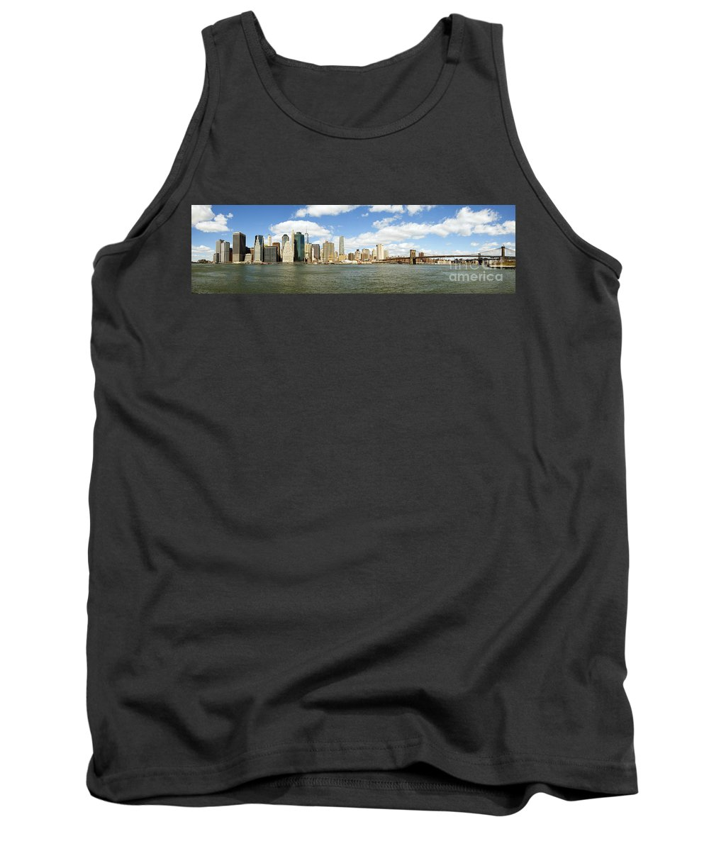 New Tank Top featuring the photograph Ny East River by Paul Fell