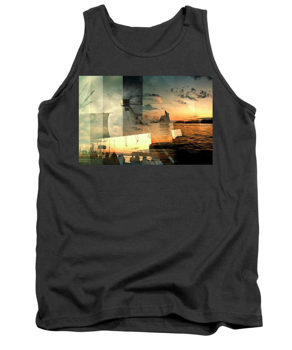 Seascape Tank Top featuring the photograph Nyc Harbor by John Emilson