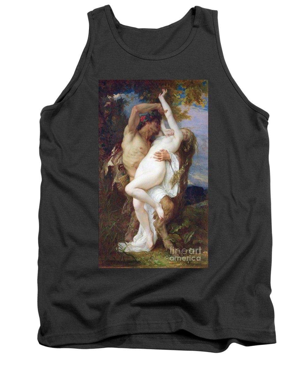 Pan Pipes Tank Top featuring the painting Nymph Abducted By A Faun by Alexandre Cabanel