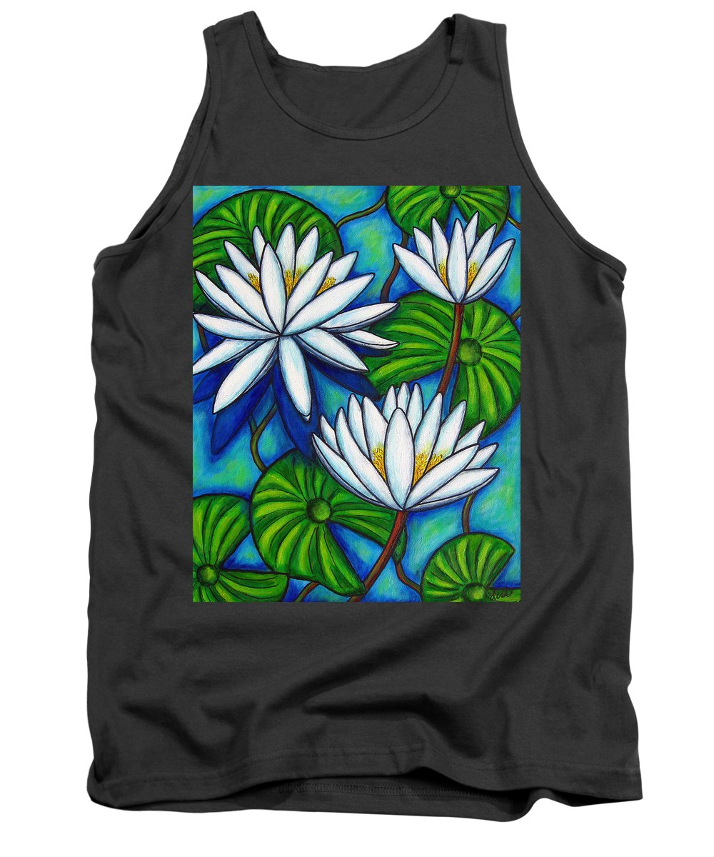 Lily Tank Top featuring the painting Nymphaea Blue by Lisa Lorenz