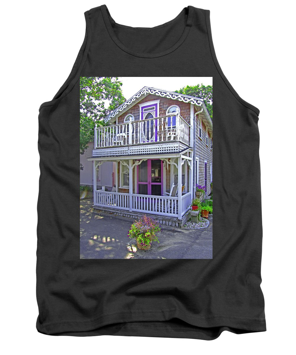 Oak Bluffs Gingerbread Cottages Tank Top featuring the photograph Oak Bluffs Gingerbread Cottages 7 by Mark Sellers