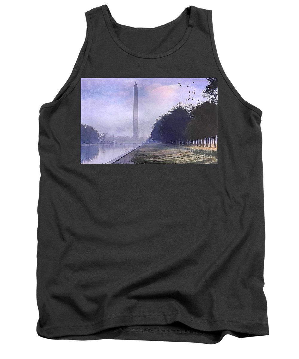 Washington Monument Tank Top featuring the digital art Obelisk by Beth Williams
