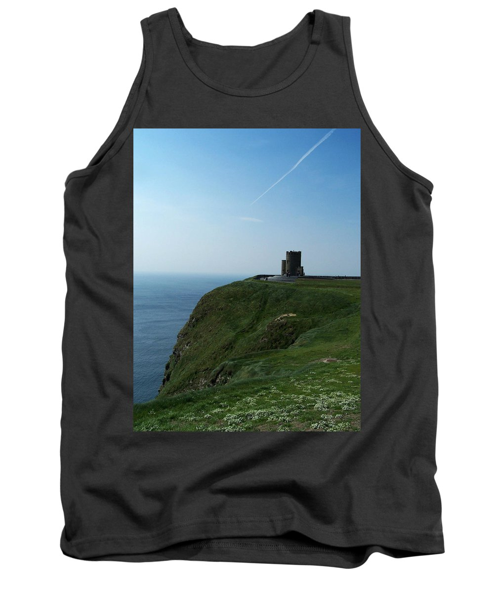 Irish Tank Top featuring the photograph O'brien's Tower At The Cliffs Of Moher Ireland by Teresa Mucha