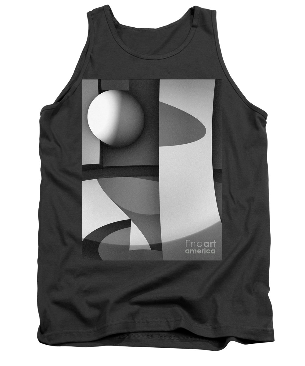Abstract Tank Top featuring the digital art Obscured Relations by Richard Rizzo