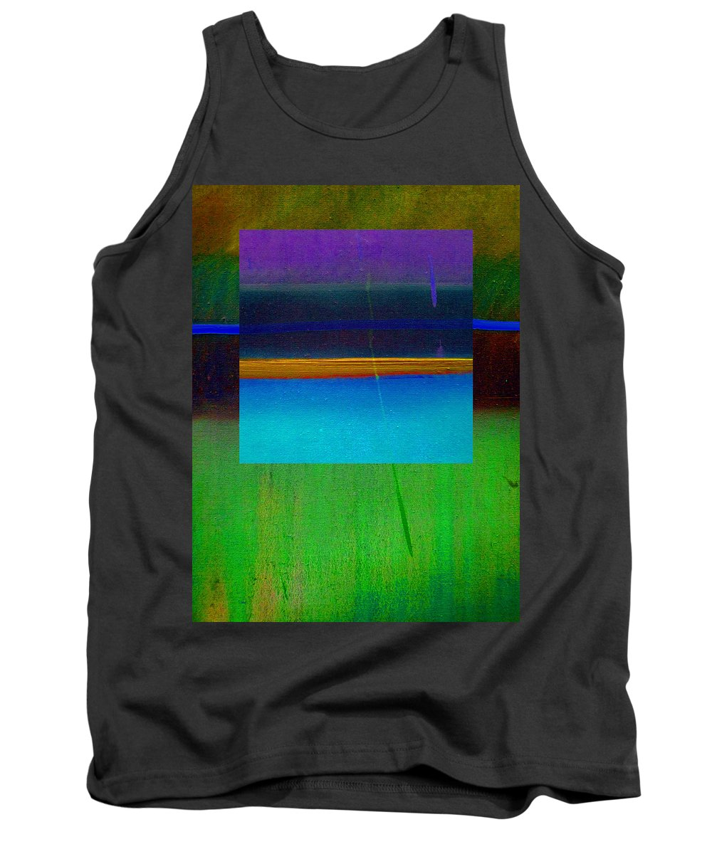 Landscape Tank Top featuring the painting Ocean Light by Charles Stuart