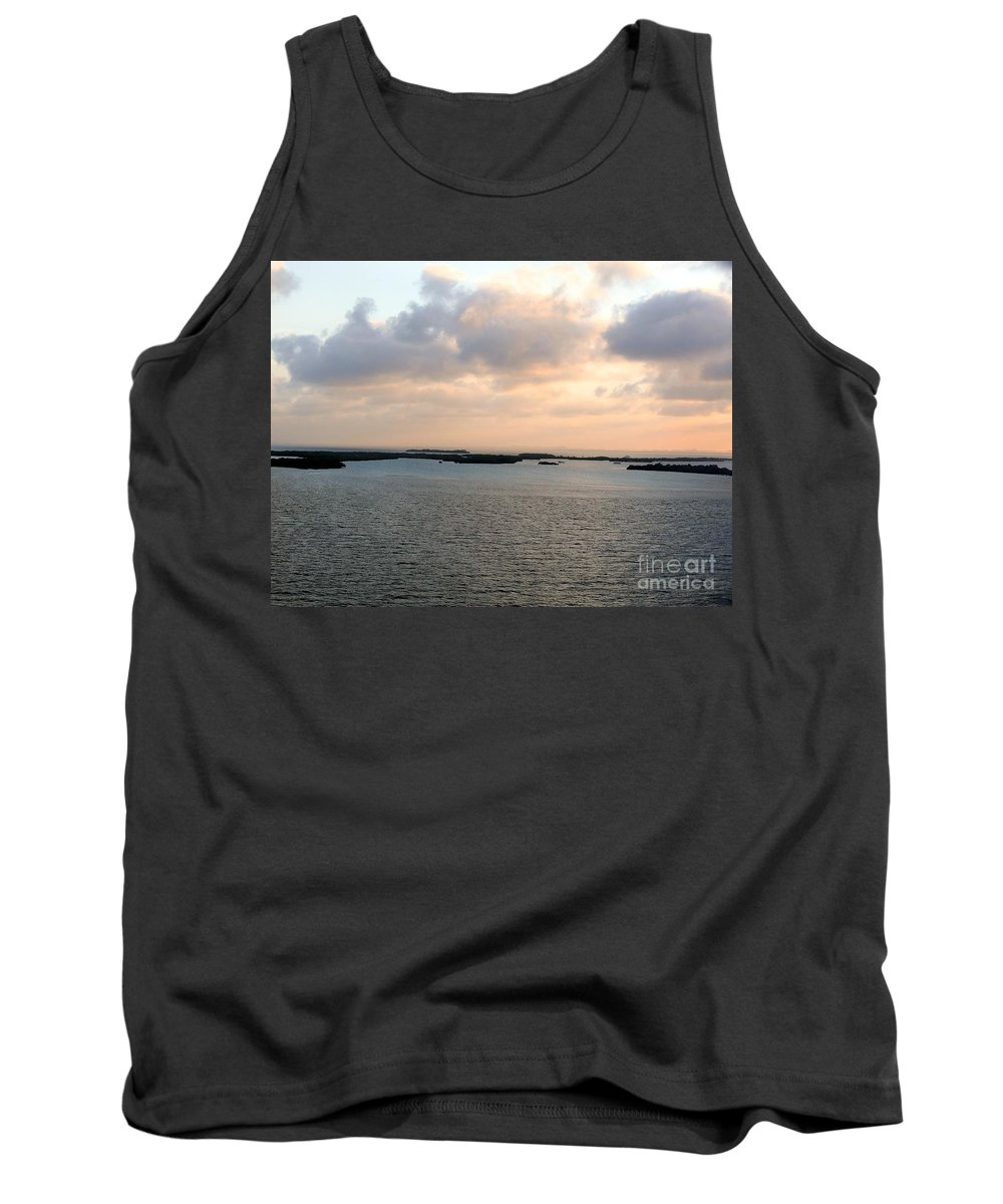 Ocean Tank Top featuring the photograph Ocean Sunset by Katherine W Morse