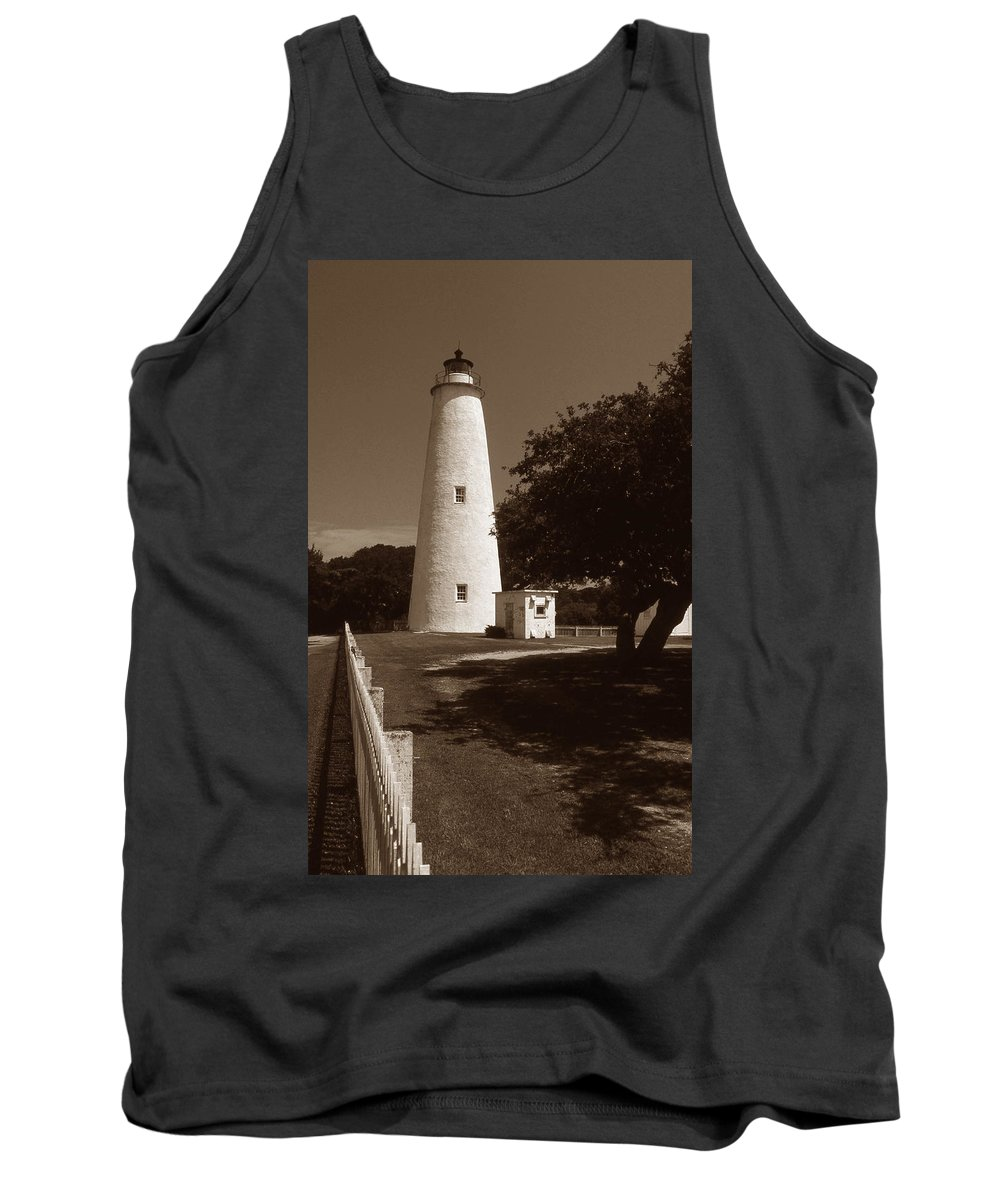 Nc Tank Top featuring the photograph Ocracoke Lighthouse by Skip Willits