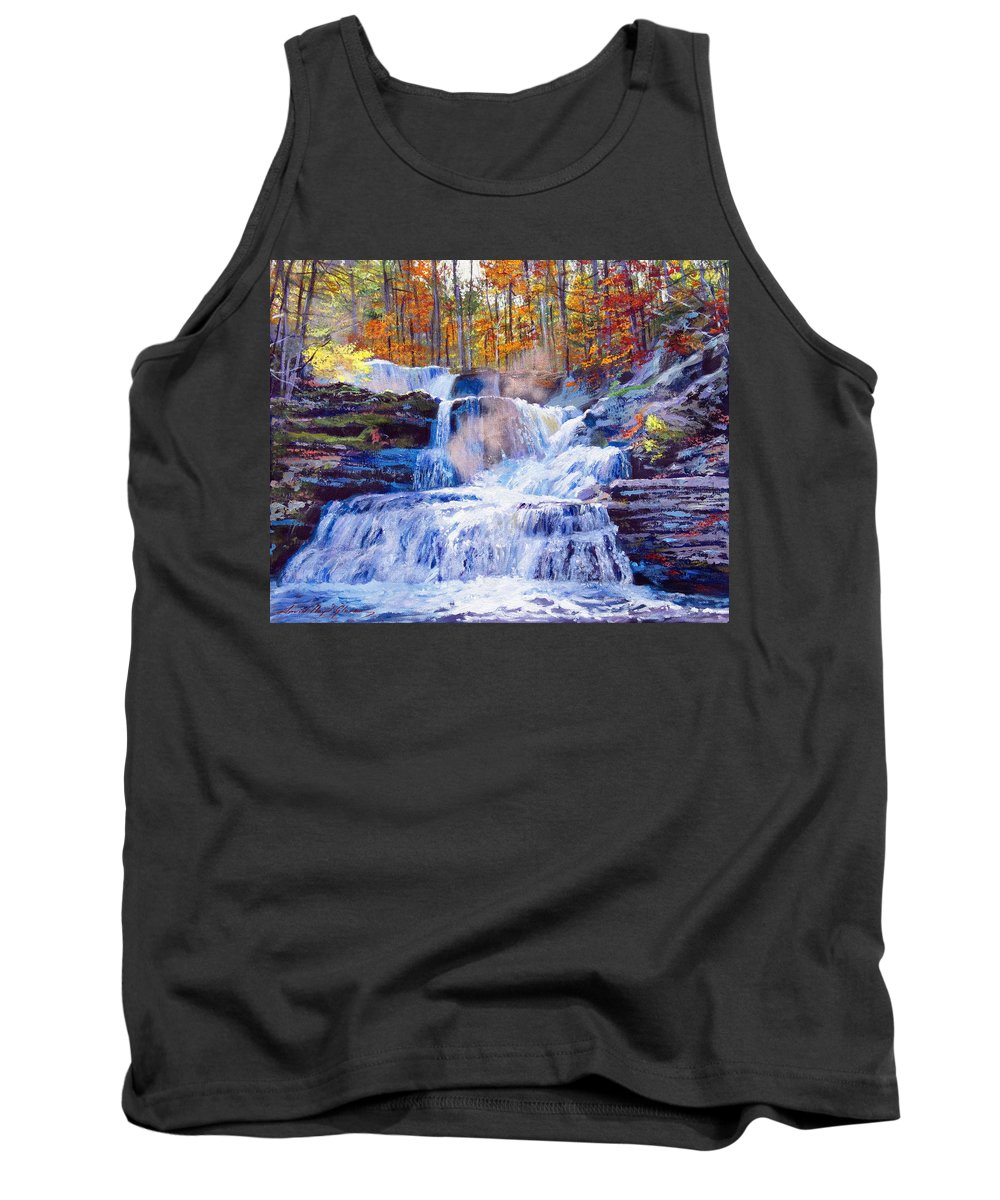 Impressionism Tank Top featuring the painting October Falls by David Lloyd Glover