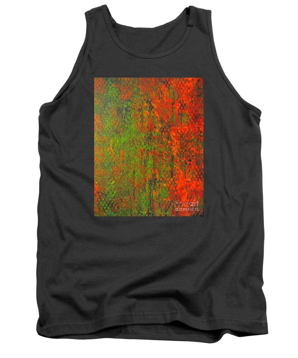 Heart Tank Top featuring the painting October Rust by Jacqueline Athmann