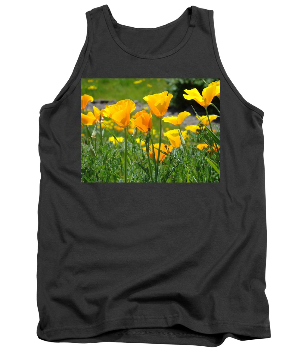�poppies Art� Tank Top featuring the photograph Office Art Poppies Poppy Flowers Giclee Prints Baslee Troutman by Baslee Troutman