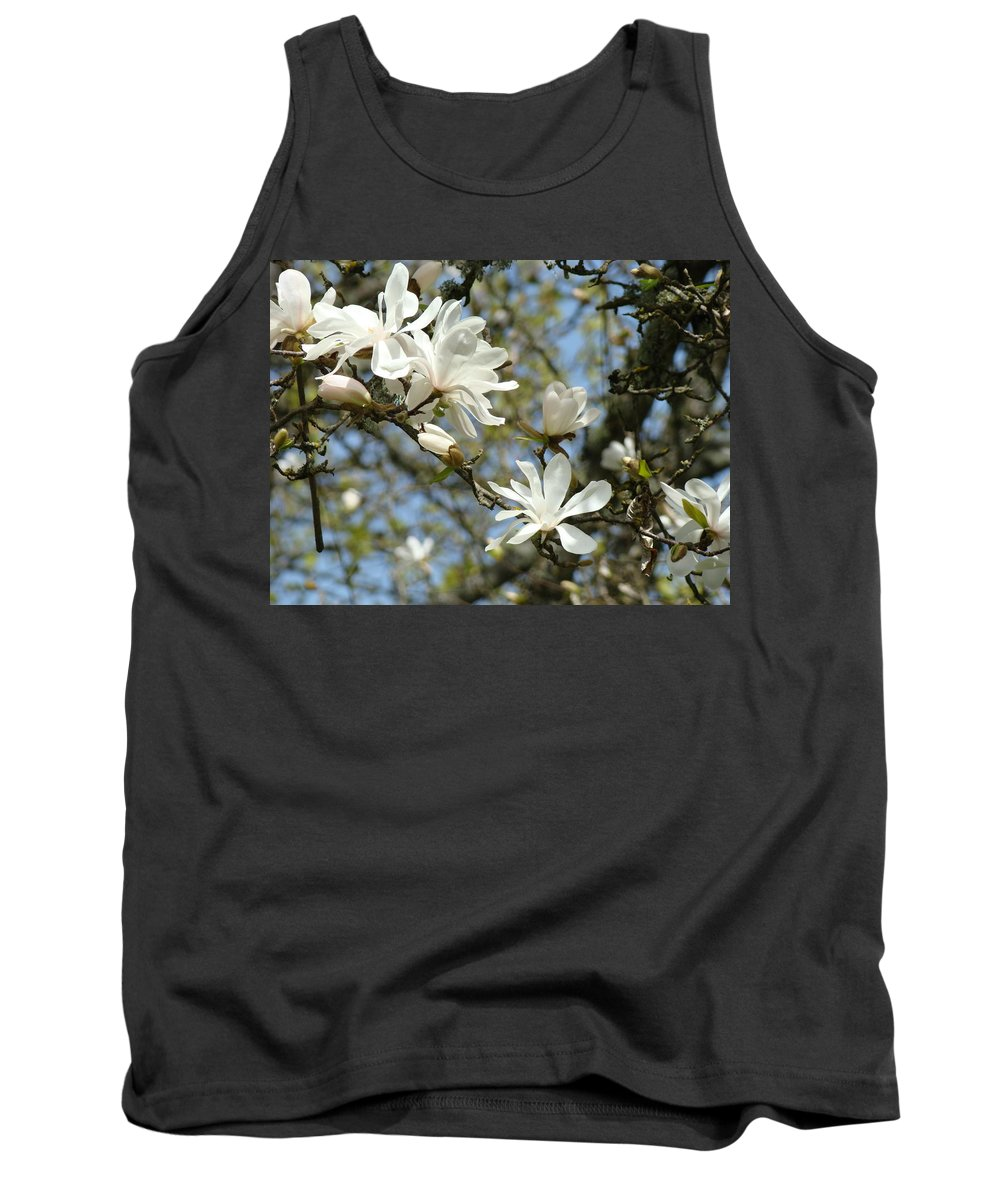 Magnolia Tank Top featuring the photograph Office Art Prints Magnolia Tree Flowers Landscape 15 Giclee Prints Baslee Troutman by Baslee Troutman