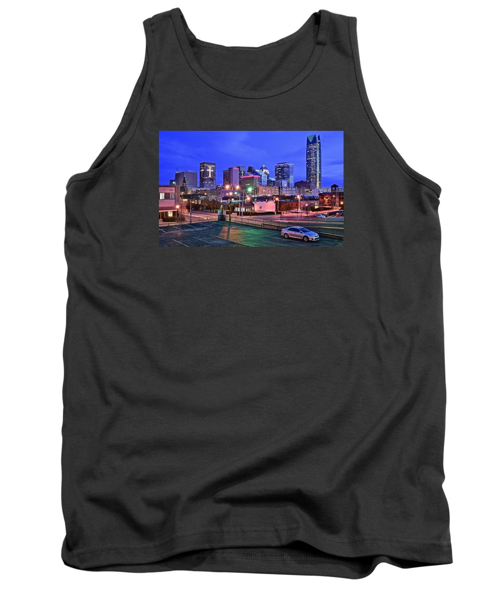 Oklahoma Tank Top featuring the photograph Okc Early Evening by Frozen in Time Fine Art Photography
