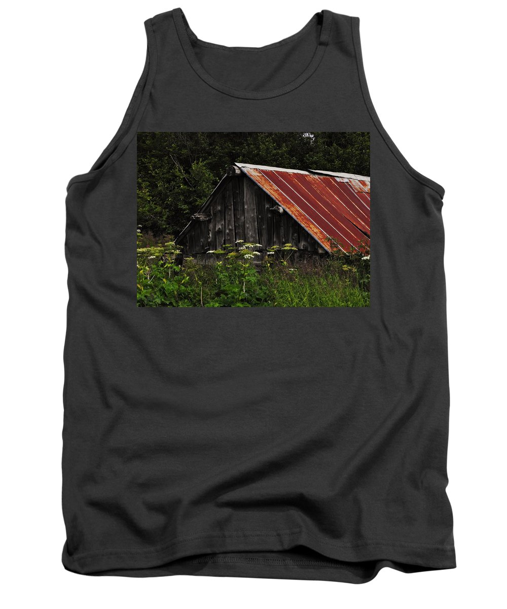 Old Alaskan Shed Tank Top featuring the photograph Old Alaskan Shed by Lori Mahaffey