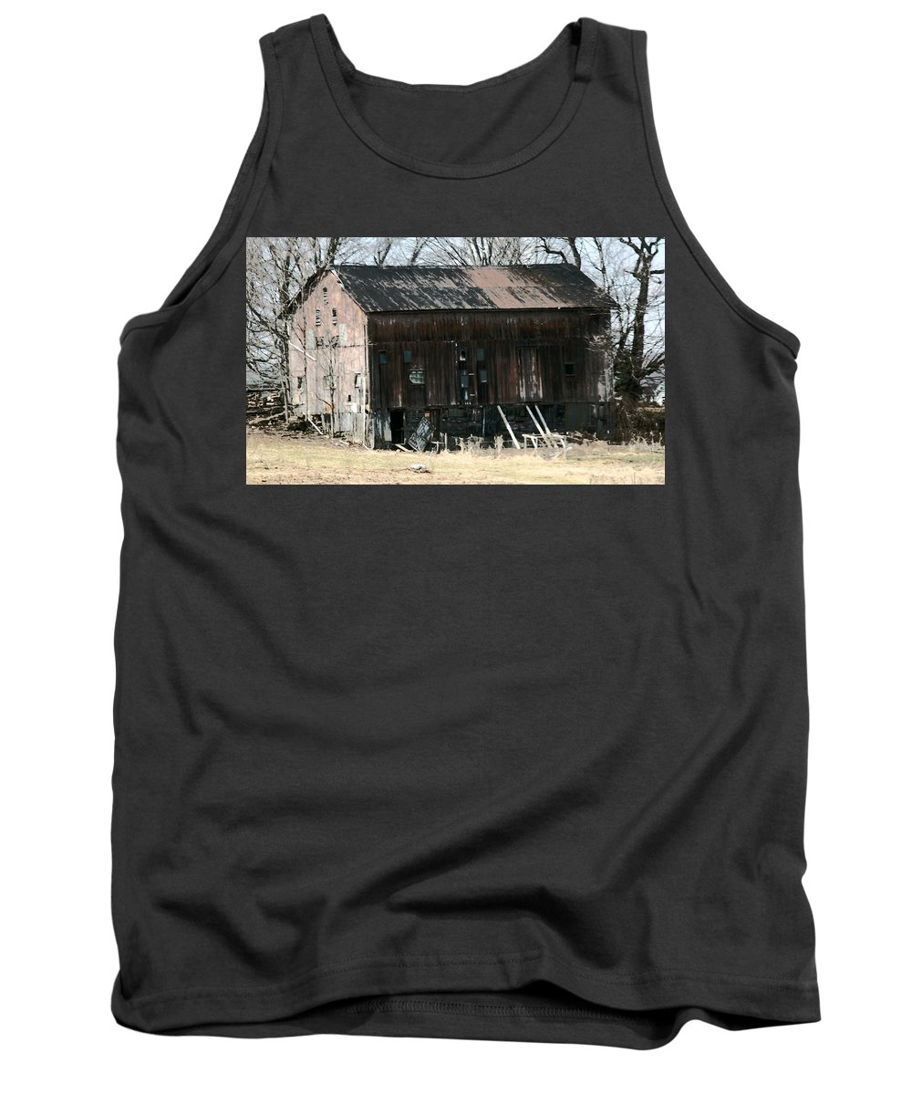 Barn Tank Top featuring the photograph Old Barn-6 by R A W M