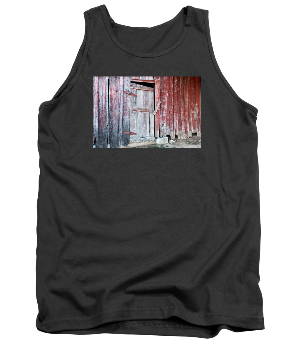 Door Tank Top featuring the photograph Old Barn Door by Carlton Cates