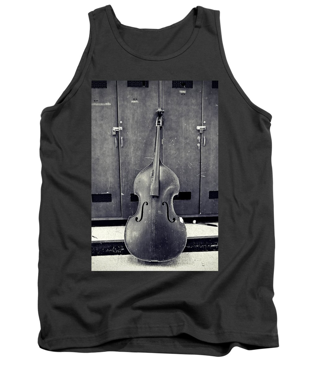 Black And White Tank Top featuring the photograph Old Bass by Scott Wyatt