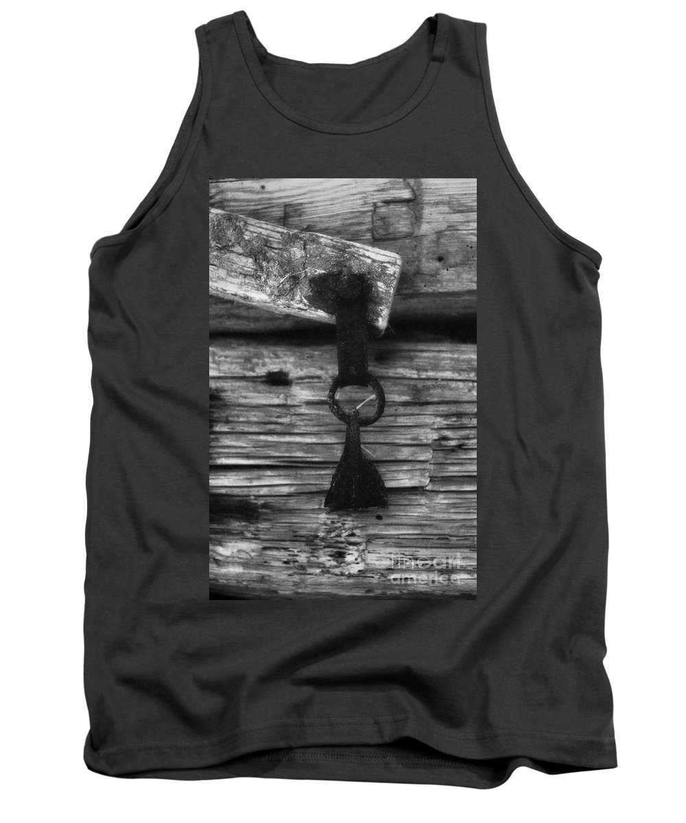 Doors Tank Top featuring the photograph Old Door Latch by Richard Rizzo