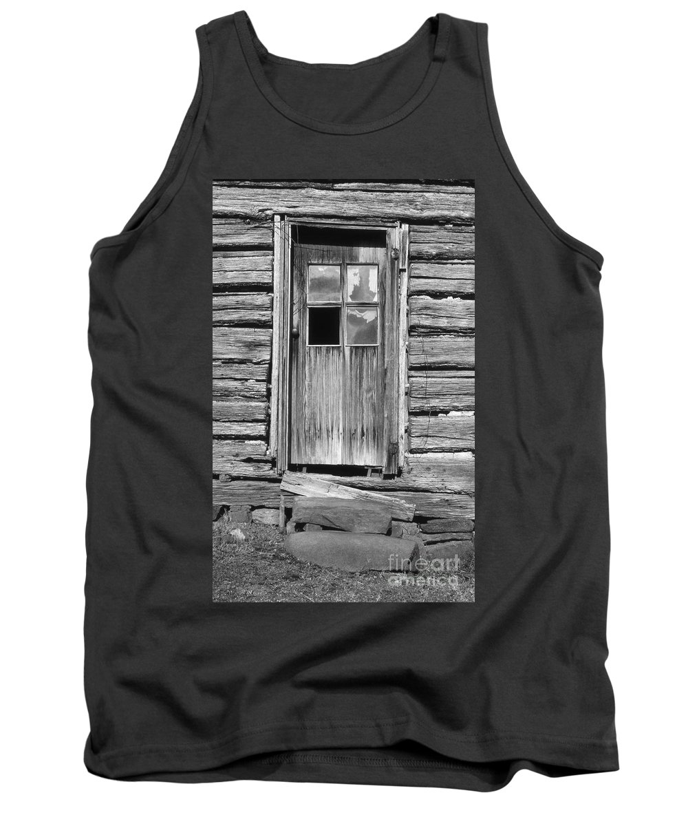 Aged Tank Top featuring the photograph Old Door by Richard Rizzo