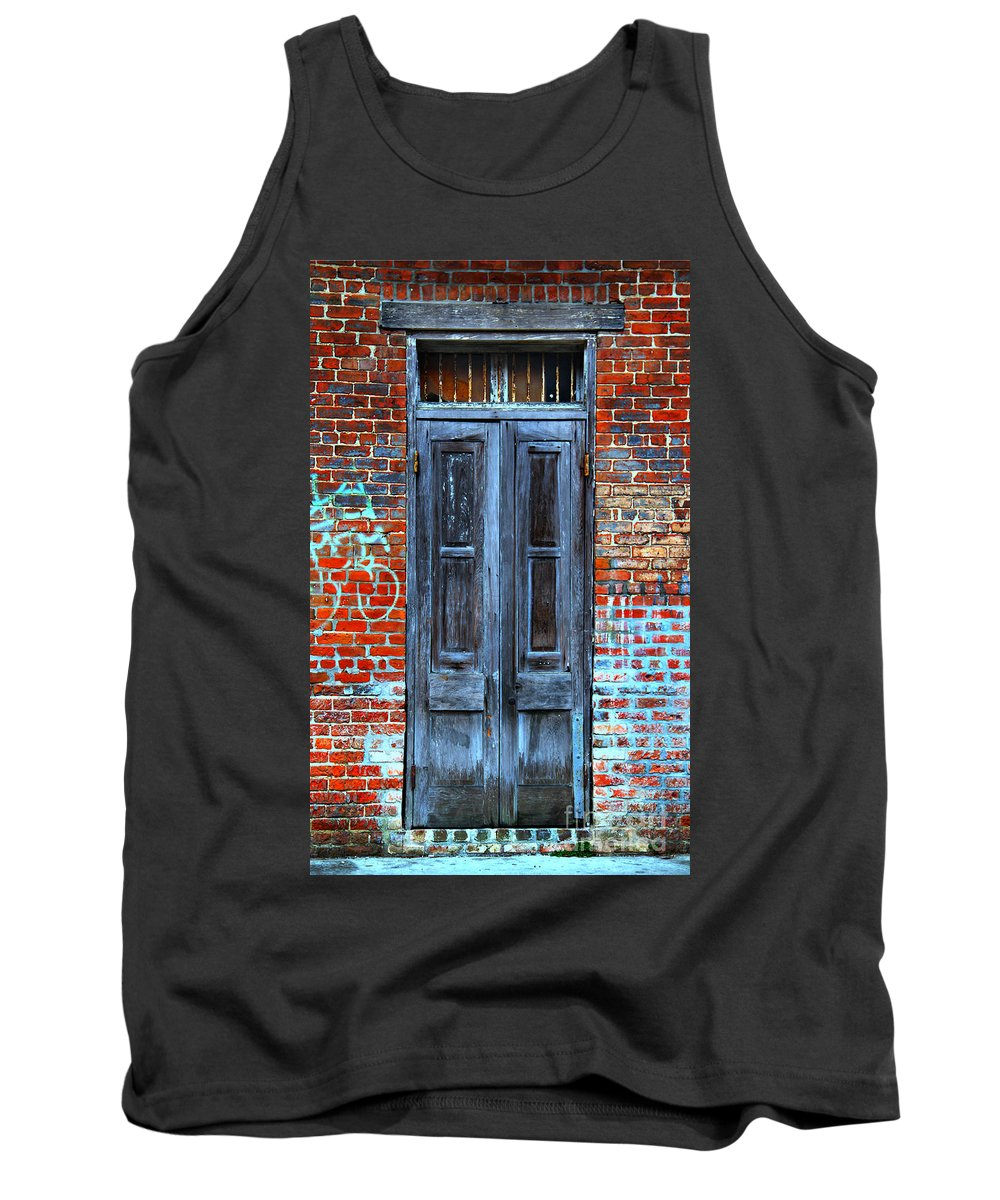New Orleans Tank Top featuring the photograph Old Door With Bricks by Perry Webster