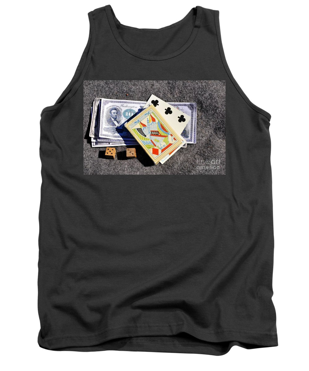 Gambling Tank Top featuring the photograph Old Gambling Articles by David Lee Thompson