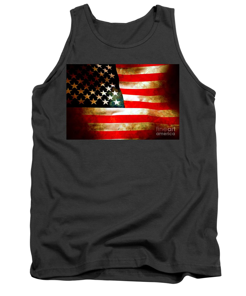 Flag Tank Top featuring the photograph Old Glory Patriot Flag by Phill Petrovic