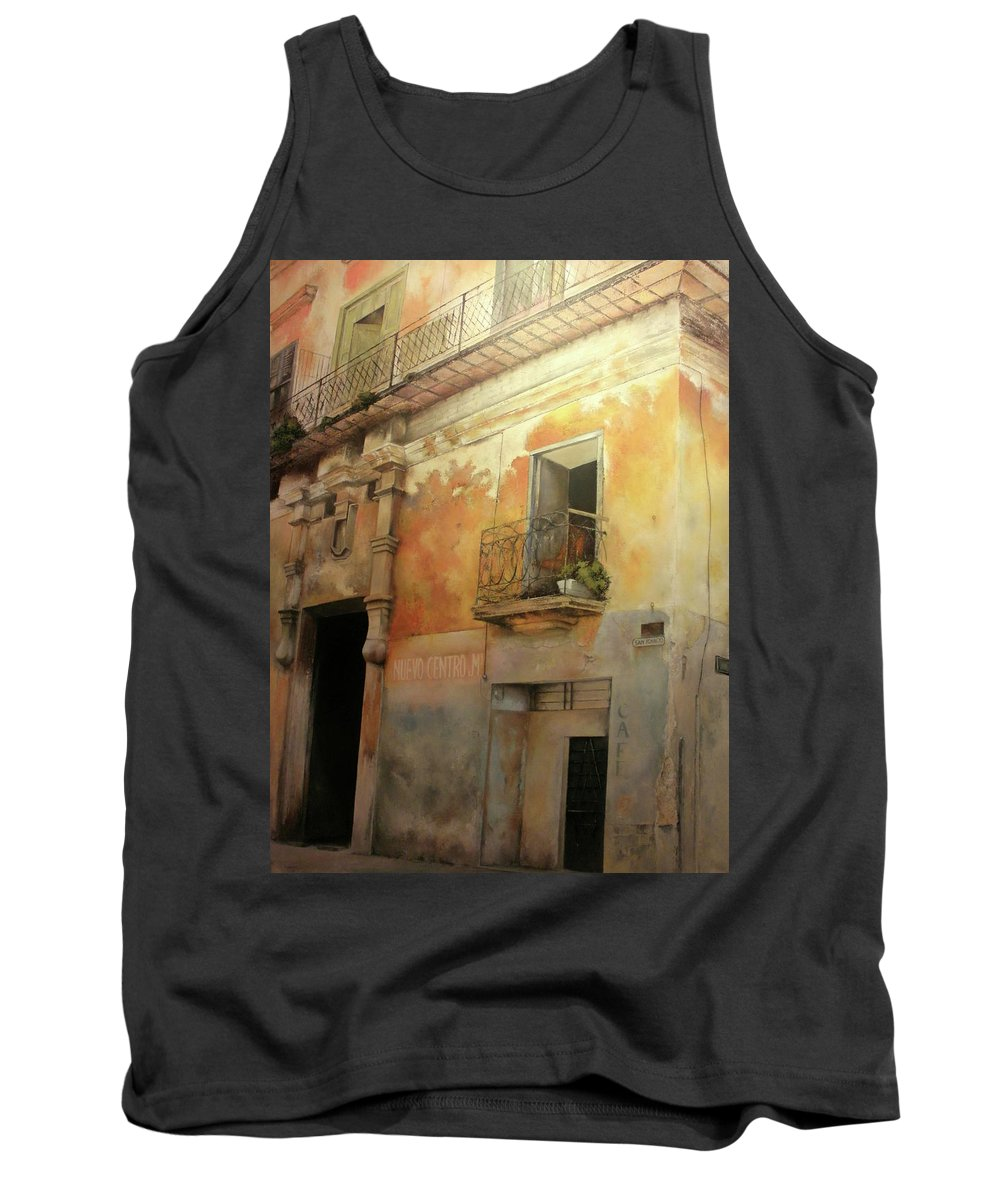Havana Cuba Tank Top featuring the painting Old Havana by Tomas Castano