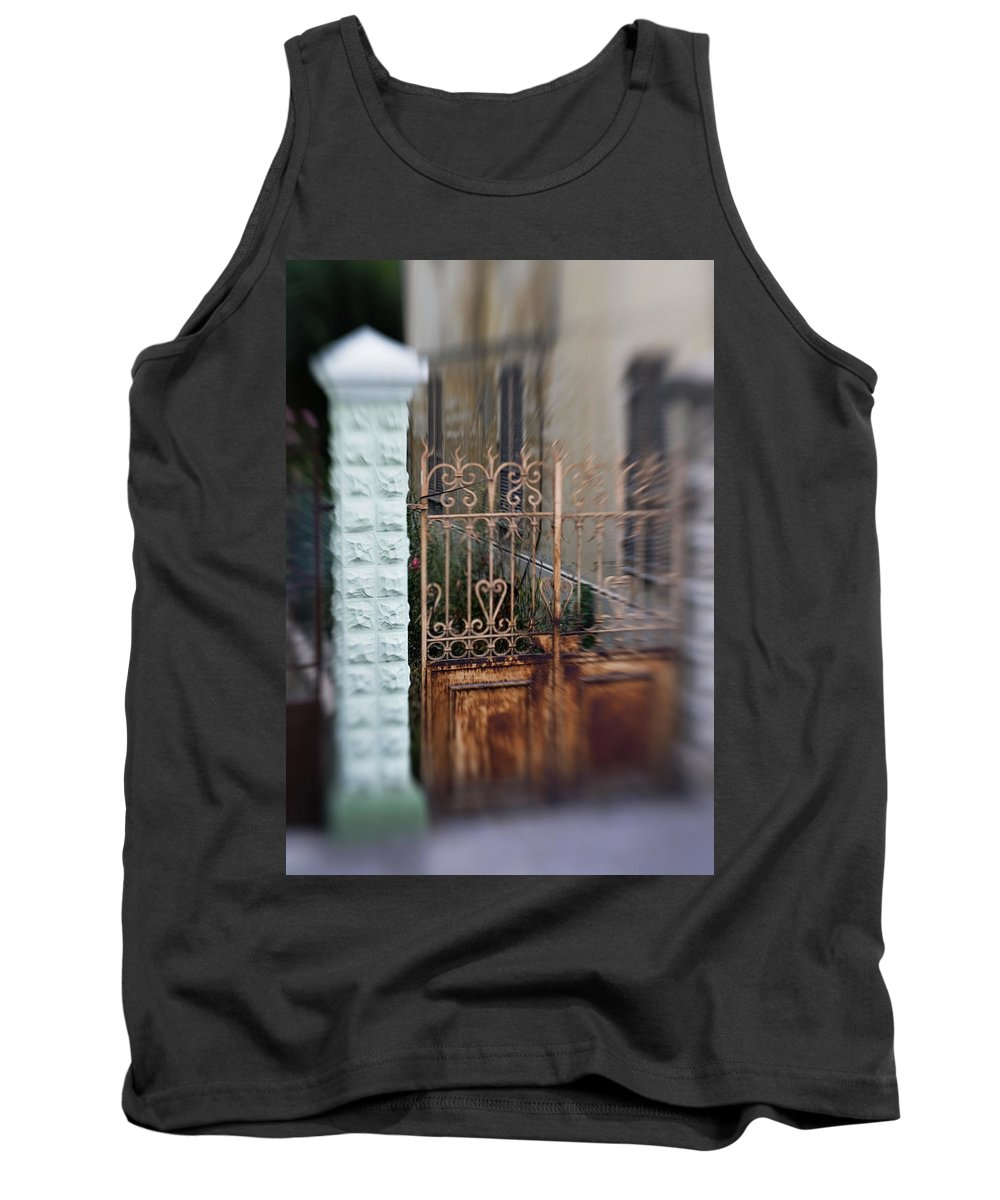 Old Tank Top featuring the photograph Old Heart Gate 2 by Marilyn Hunt
