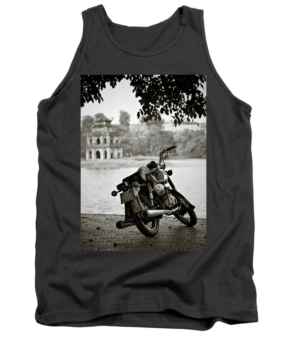 Honda Tank Top featuring the photograph Old Honda In Hanoi by Dave Bowman