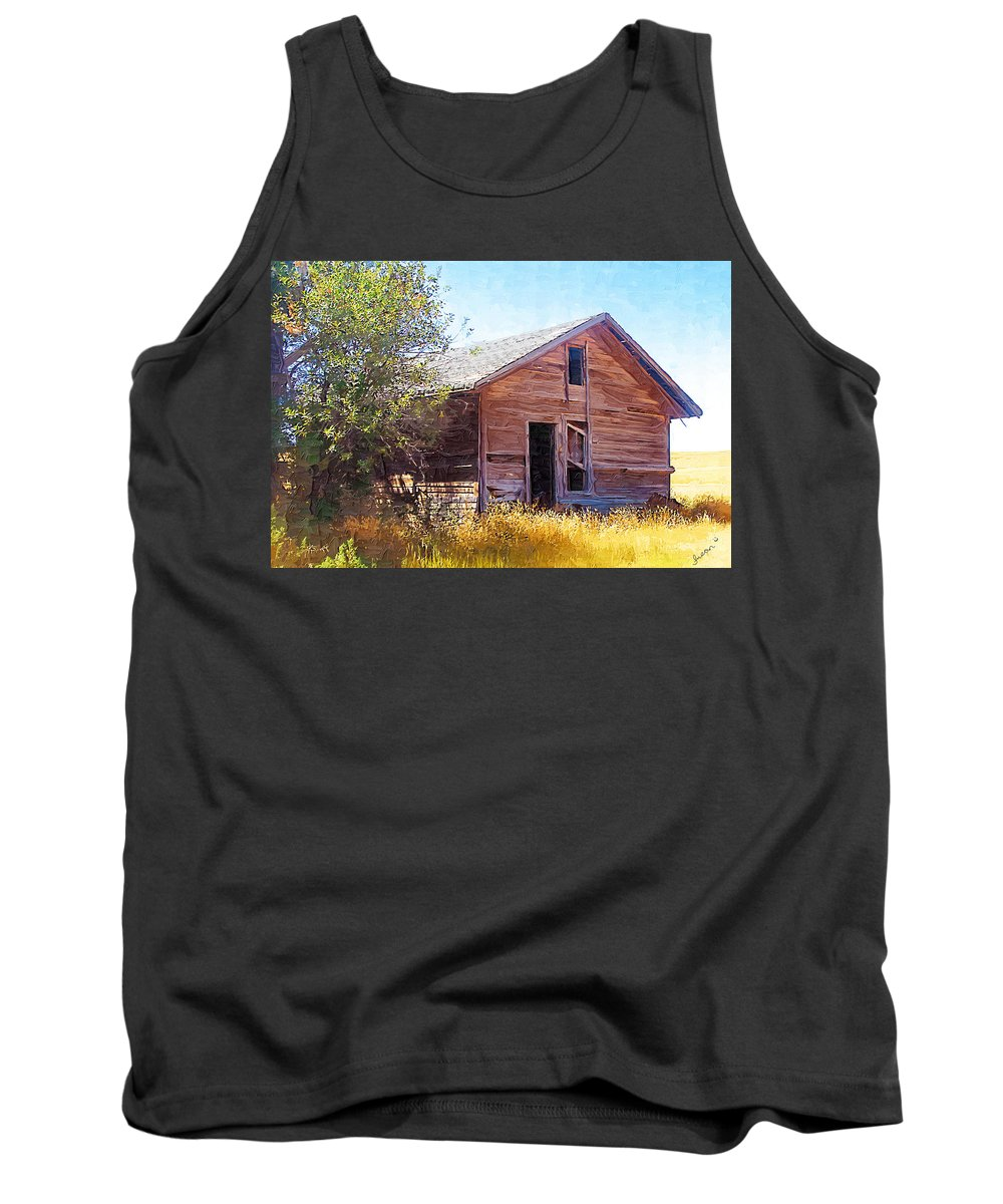 Floweree Montana Tank Top featuring the photograph Old House by Susan Kinney