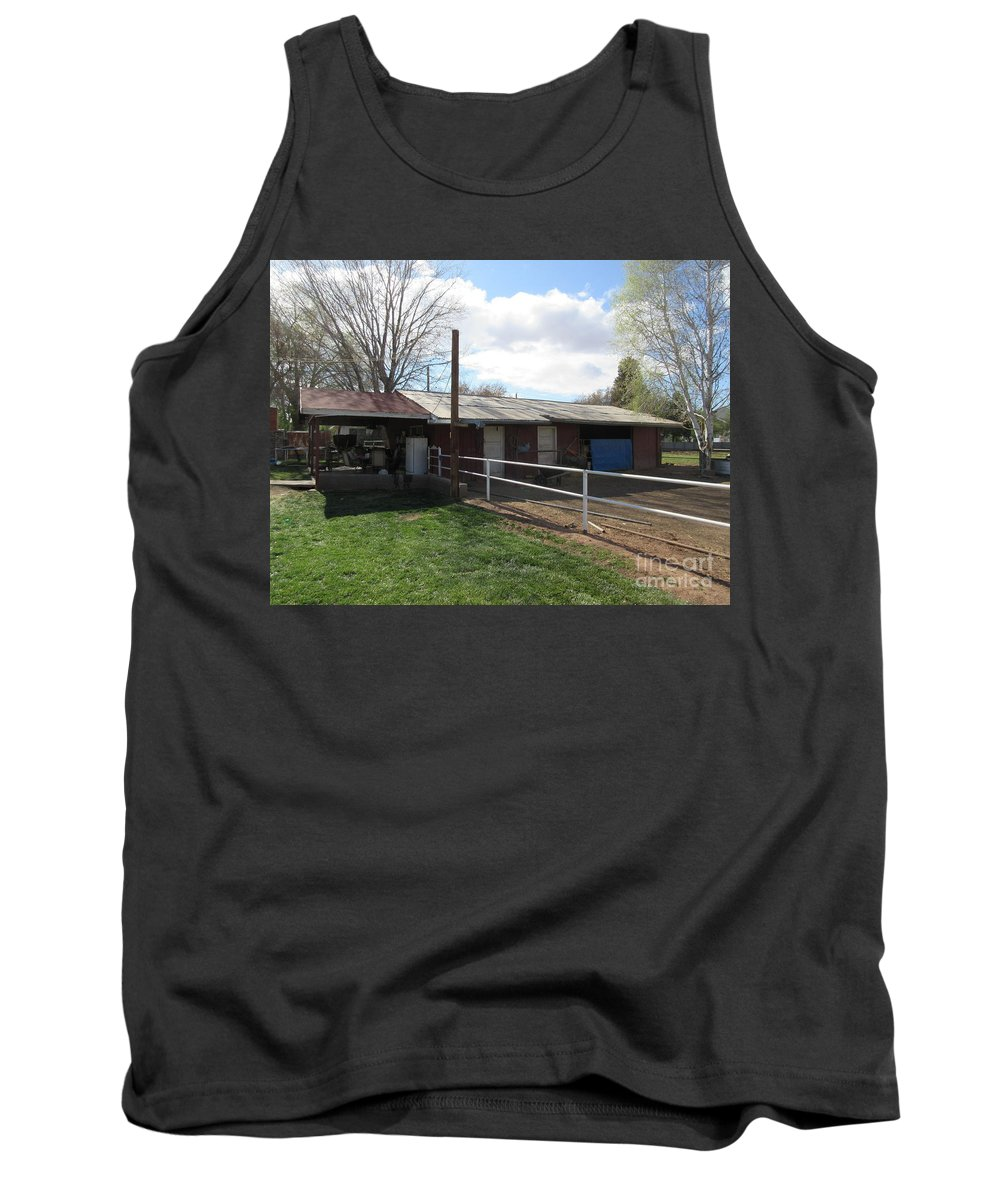 Old Tank Top featuring the photograph Old Mormon Barn by Frederick Holiday
