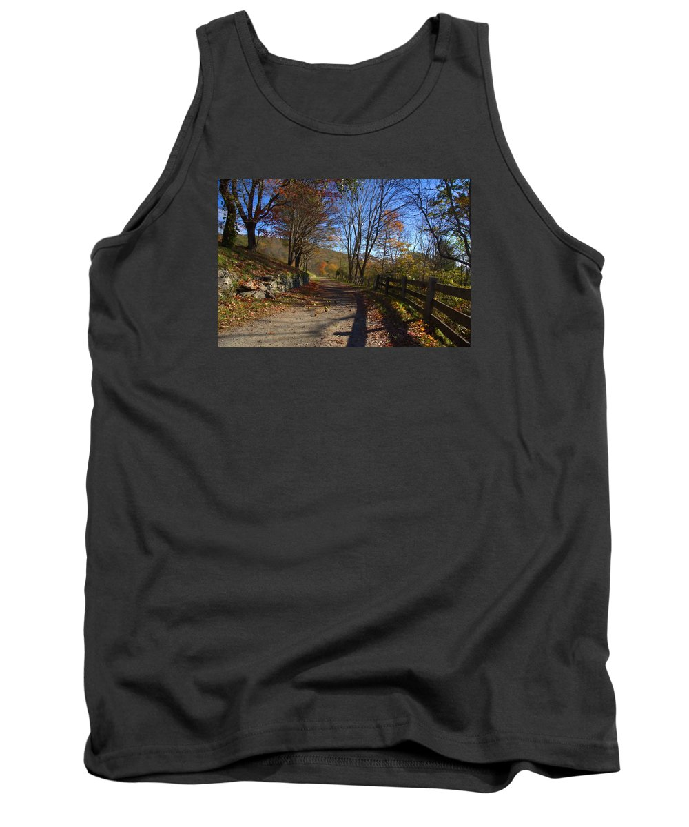 Mountain Road Tank Top featuring the photograph Old Mountain Road by Larry Jones