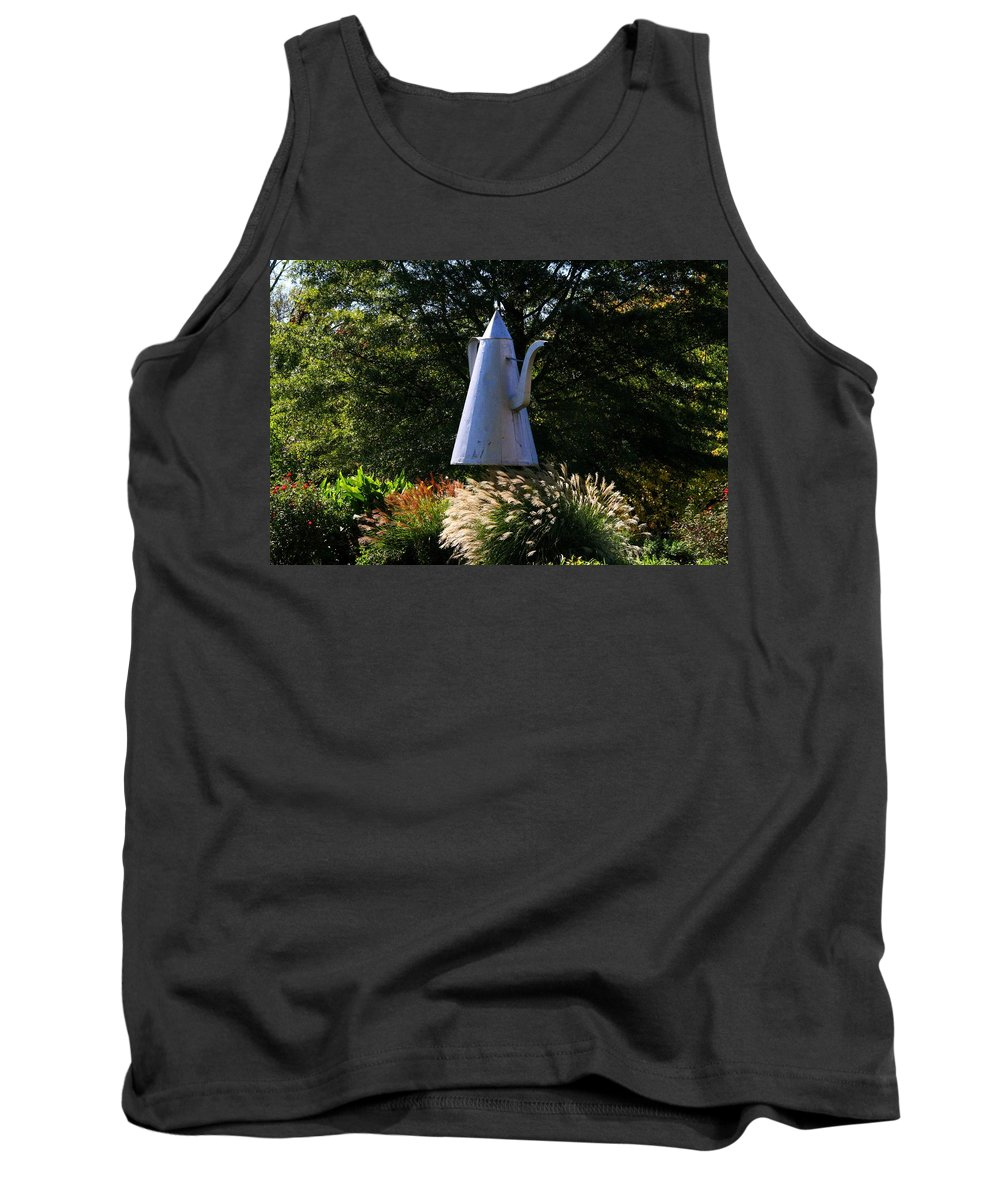 Teapot Tank Top featuring the photograph Old Salem Teapot by Kathryn Meyer