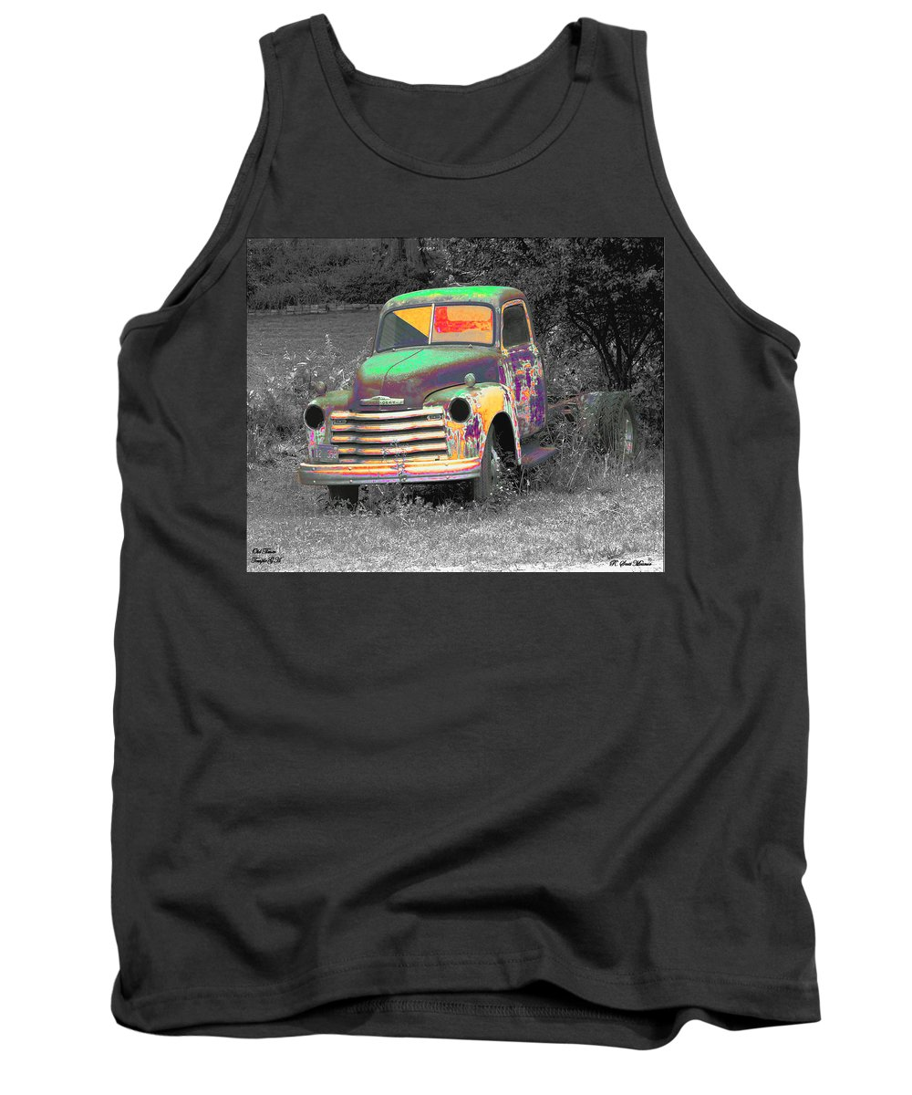 Car Tank Top featuring the digital art Old Timer by Robert Meanor