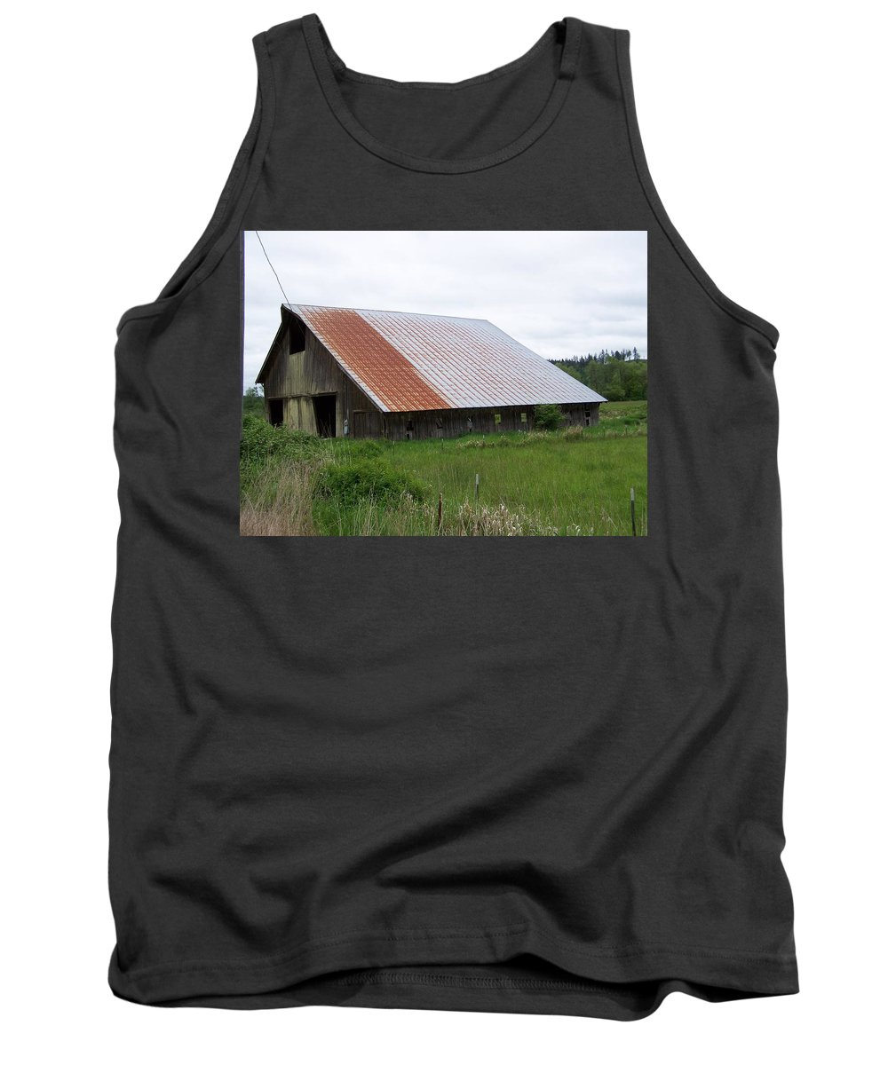Barn Tank Top featuring the photograph Old Tin Roof Barn Washington State by Laurie Kidd