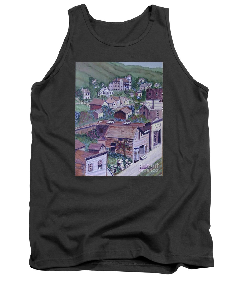 Ventura Tank Top featuring the painting Old Ventura by Laurie Morgan