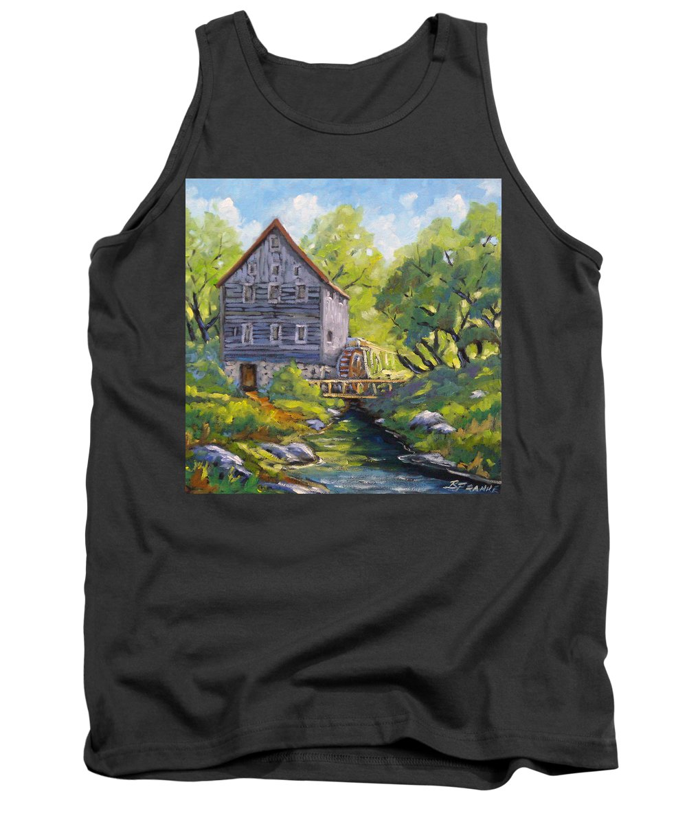 Art Tank Top featuring the painting Old Watermill by Richard T Pranke