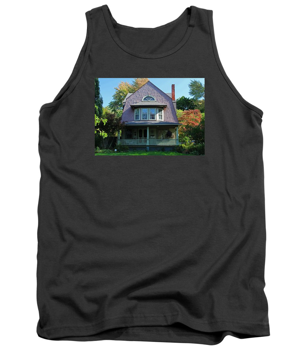 Old West End Tank Top featuring the photograph Old West End Pink 8 by Michiale Schneider