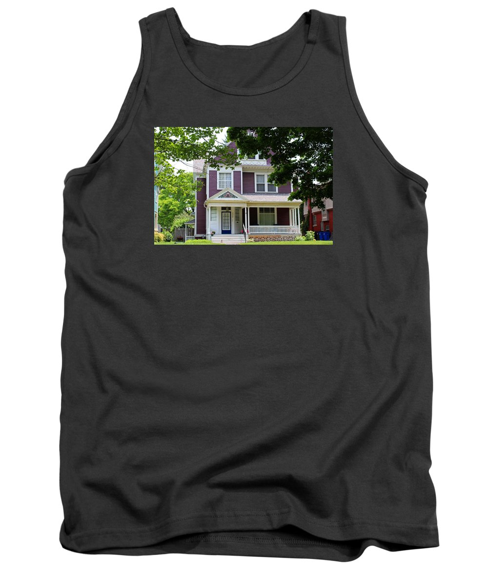 Old West End Tank Top featuring the photograph Old West End Purple 2 by Michiale Schneider