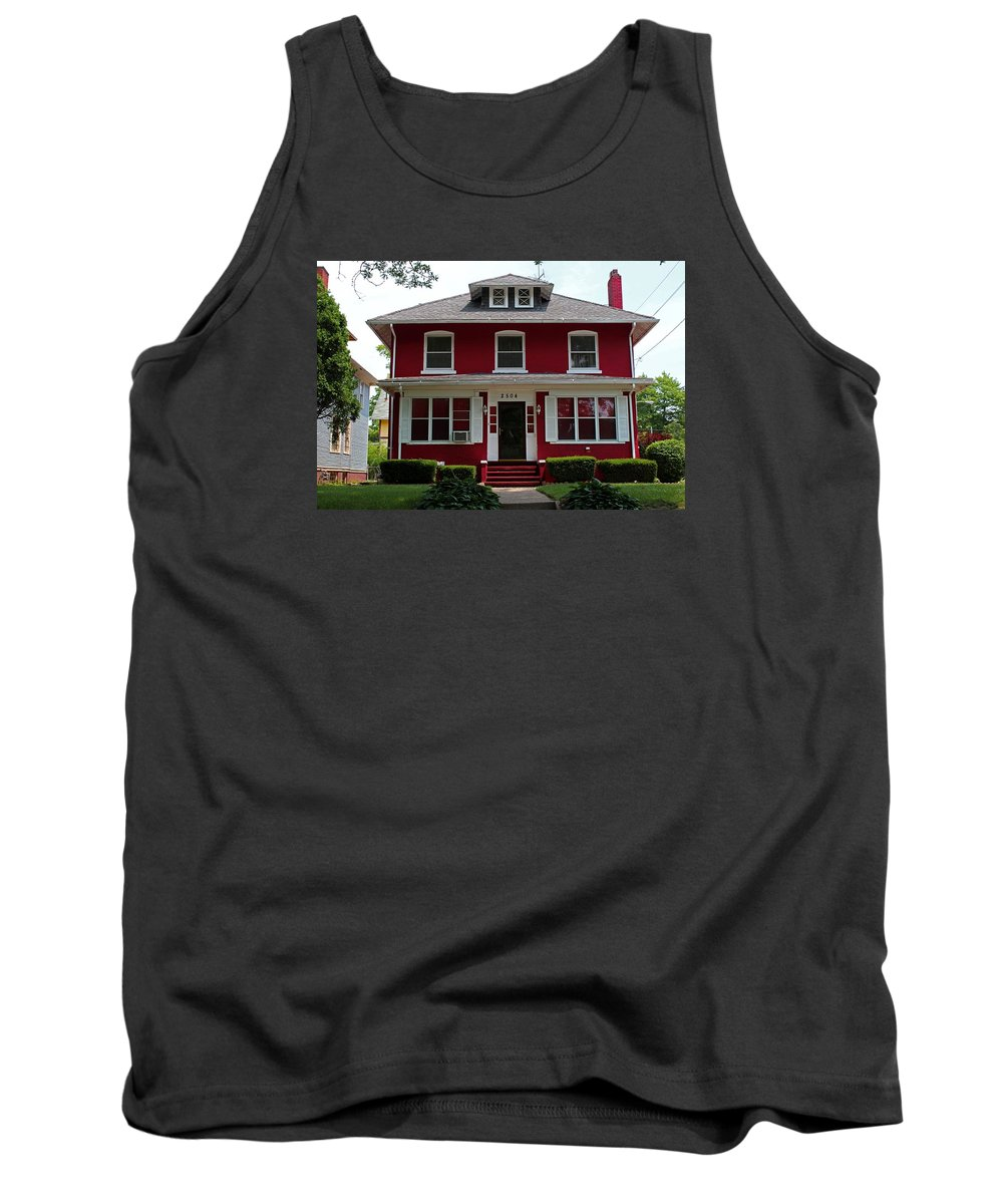 Old West End Tank Top featuring the photograph Old West End Red 4 by Michiale Schneider