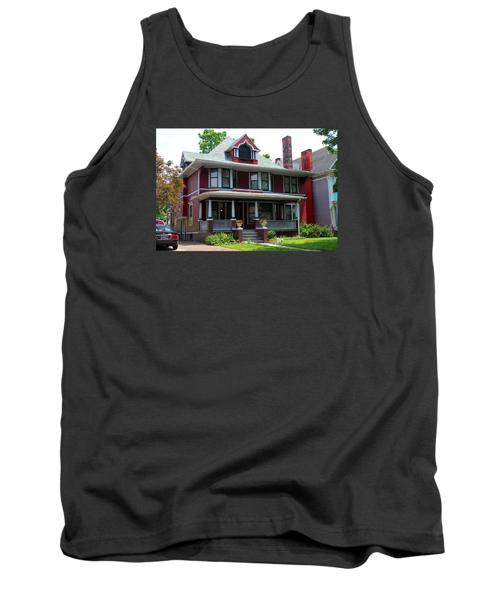 Old West End Tank Top featuring the photograph Old West End Red 6 by Michiale Schneider