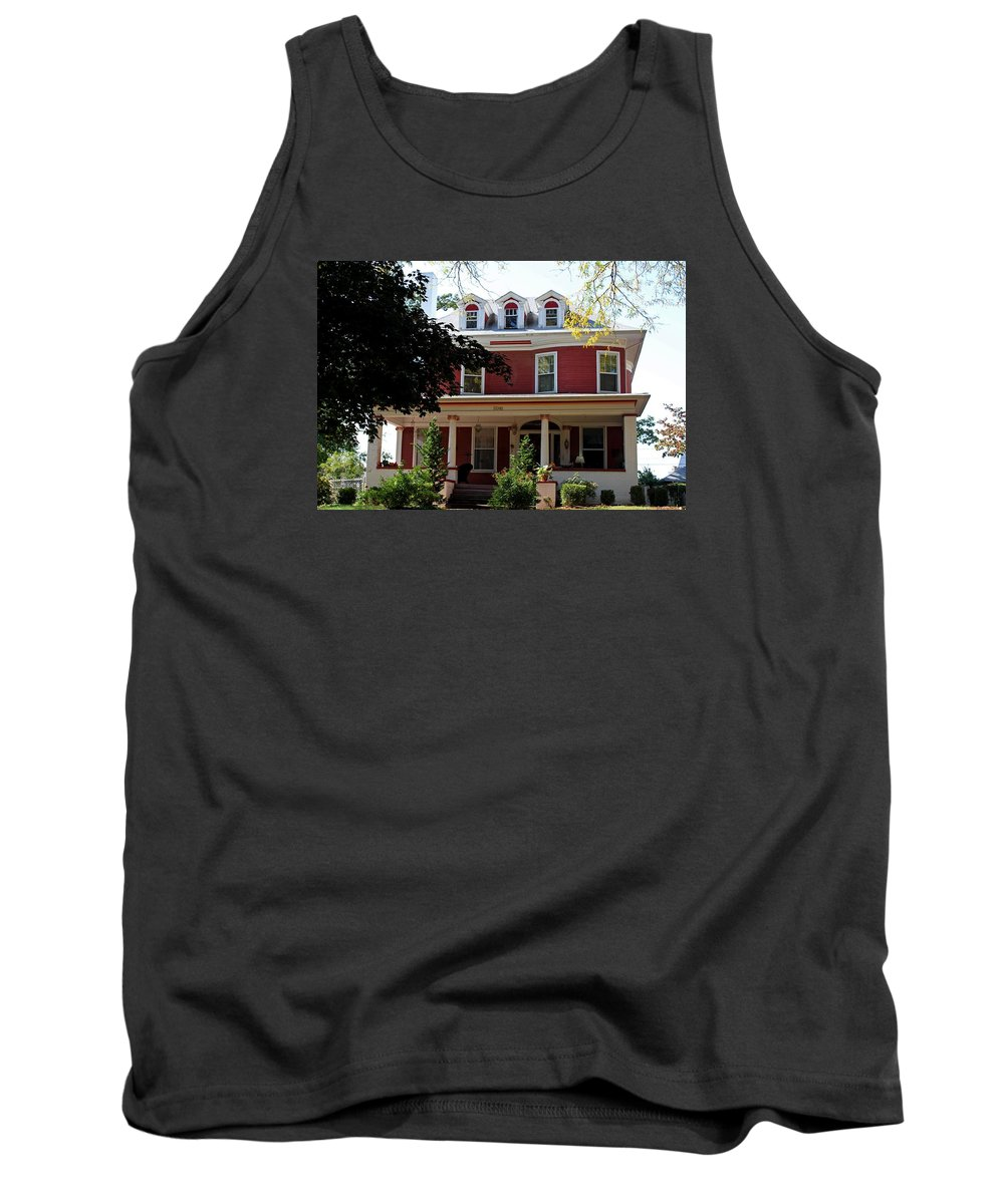 Old West End Tank Top featuring the photograph Old West End Red 7 by Michiale Schneider