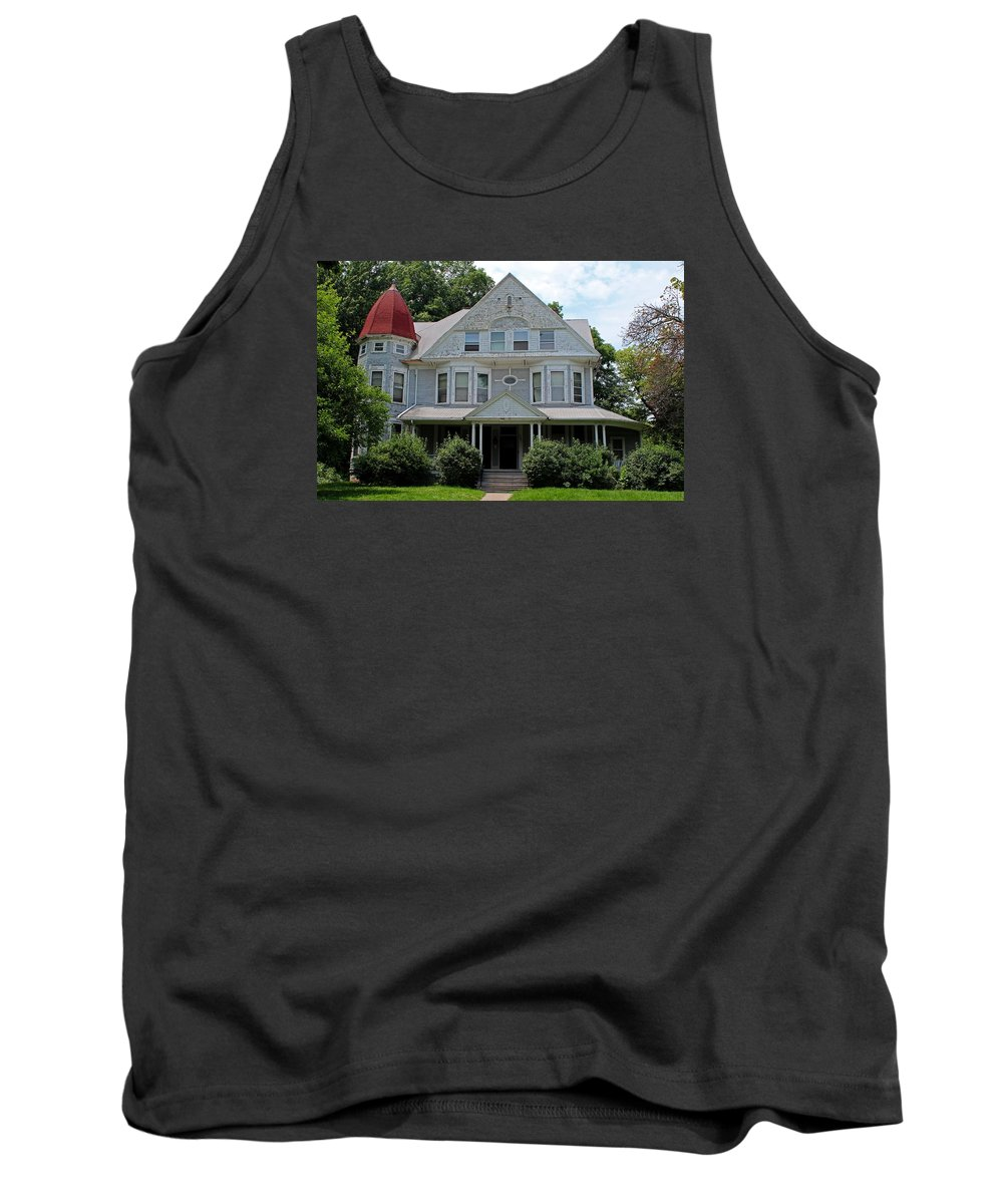 Old West End Tank Top featuring the photograph Old West End White 2 by Michiale Schneider