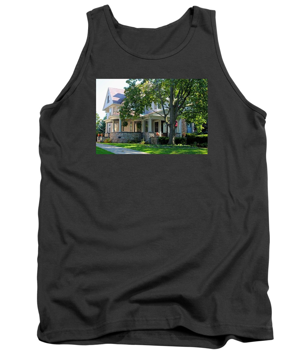 Old West End Tank Top featuring the photograph Old West End White 7 -ii by Michiale Schneider