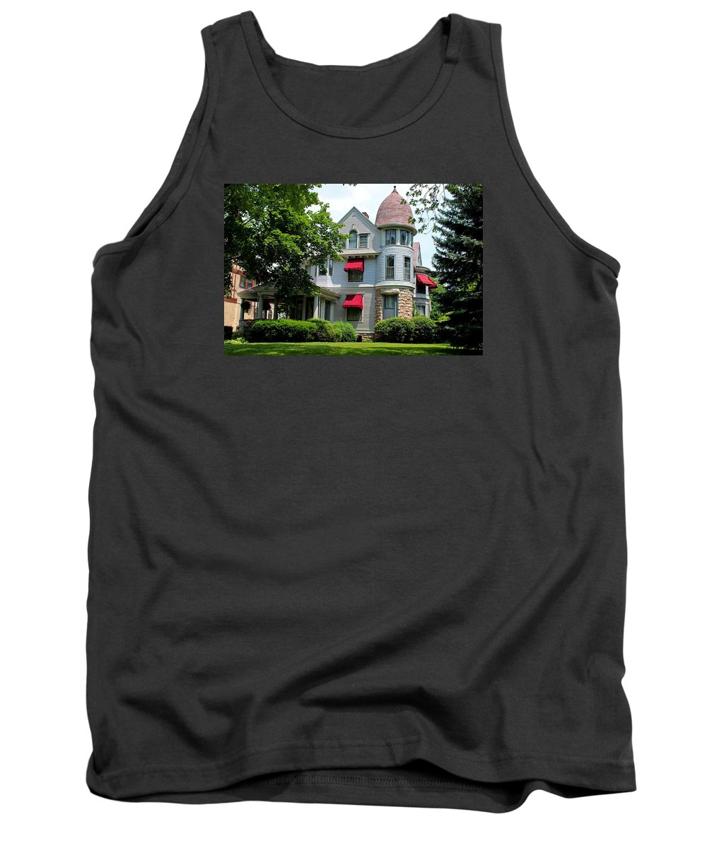 Old West End Tank Top featuring the photograph Old West End White 7 by Michiale Schneider