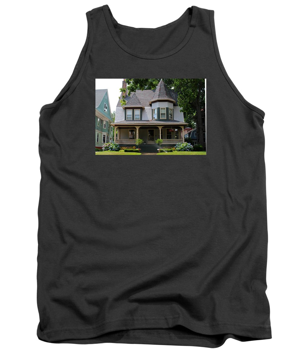 Old West End Tank Top featuring the photograph Old West End White 8 by Michiale Schneider