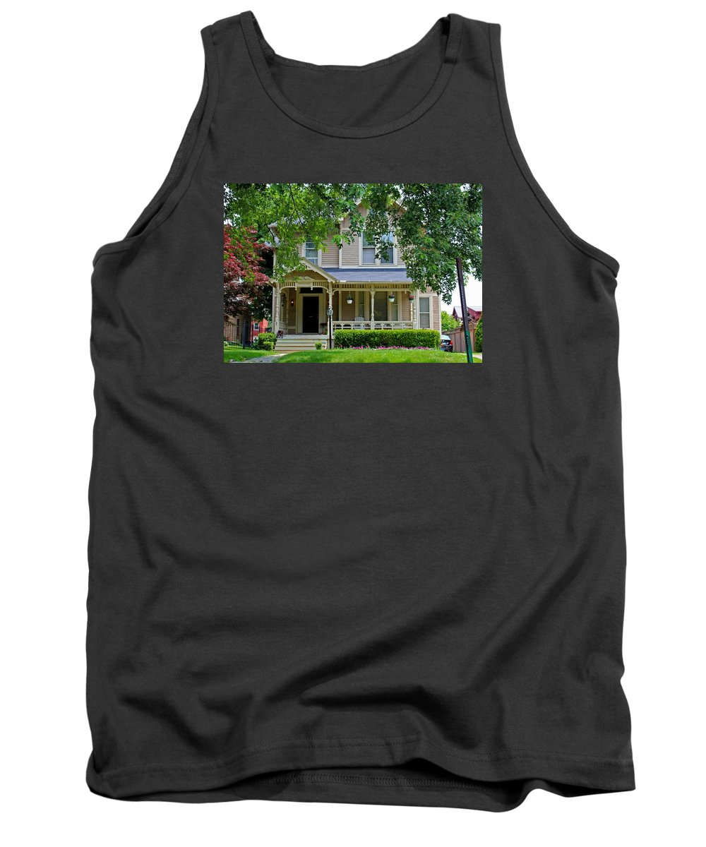 Old West End Tank Top featuring the photograph Old West End White 9 by Michiale Schneider