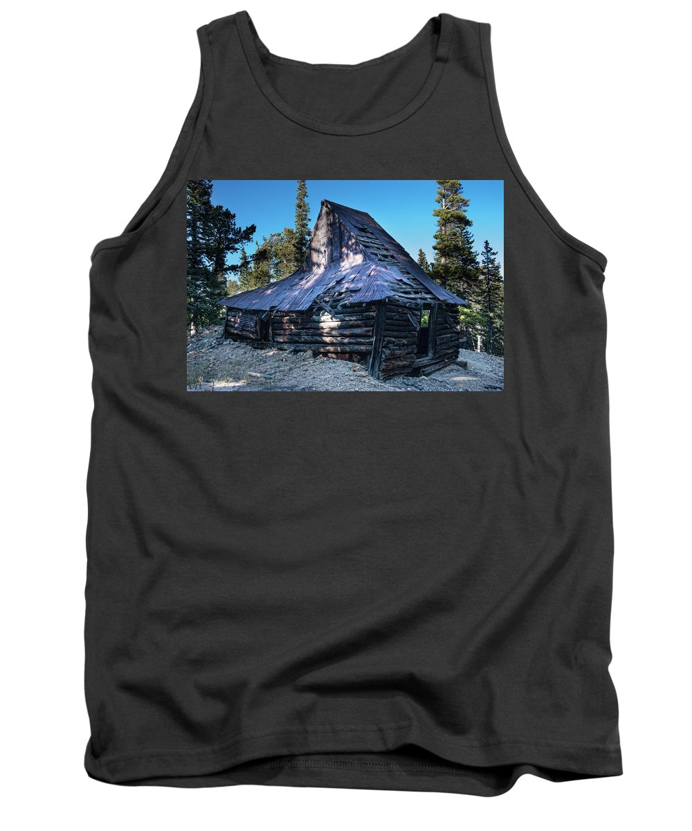 Rustic Tank Top featuring the photograph Old Witch Hat Gold Mine by James BO Insogna