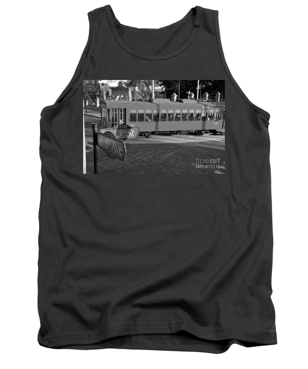 Ybor City Florida Tank Top featuring the photograph Old Ybor City Trolley by David Lee Thompson