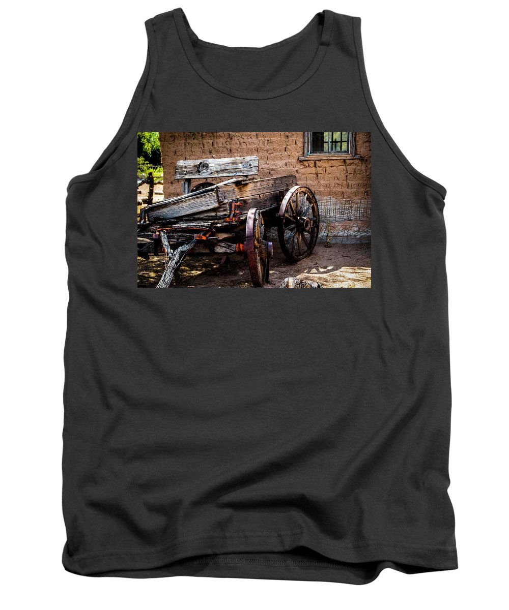 Wagon Tank Top featuring the photograph Old Mesilla Wagon by Ed Ostrander